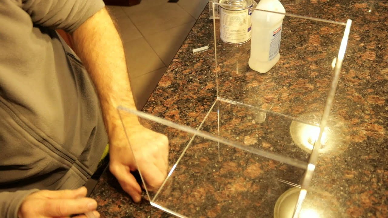 Gluing Plexiglass with Acrylics Glue - YouTube