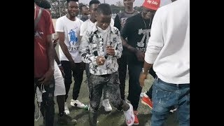 Check Out Destiny Boy Zanku Leg work DanceAs Vector Idowest Storm In With Style at Agege Stadium