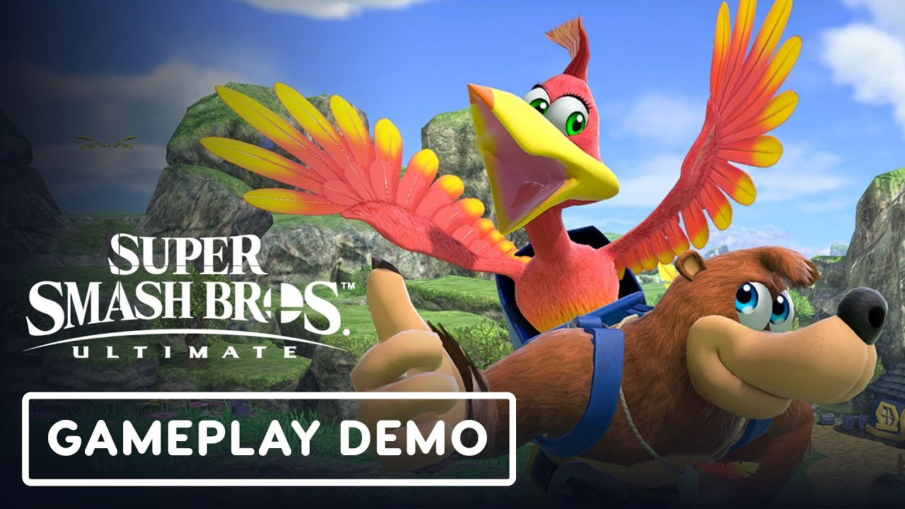 Super Smash Bros  Ultimate - Banjo & Kazooie Gameplay Demo