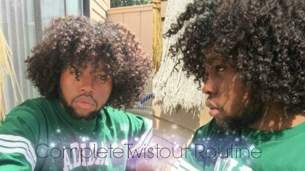 My Curly Twistout Routine For Natural Hair Men   YouTube