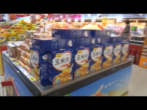 BIGGEST SUPERMARKET IN CHINA  (I've ever seen) - long inside view - HD - 2016/2017