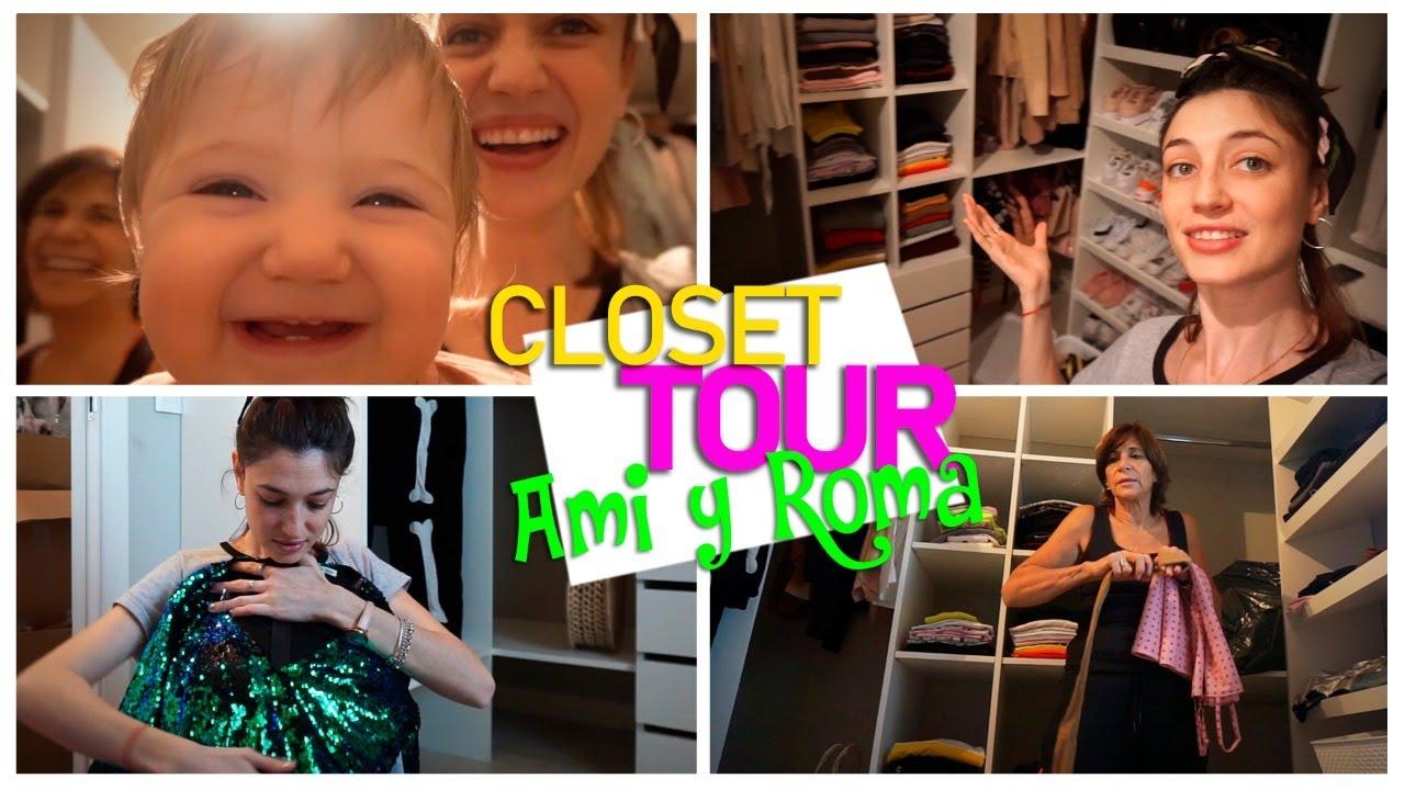 CLOSET TOUR EN MI NUEVA CASA - Amira Chediak y Roma Ferro