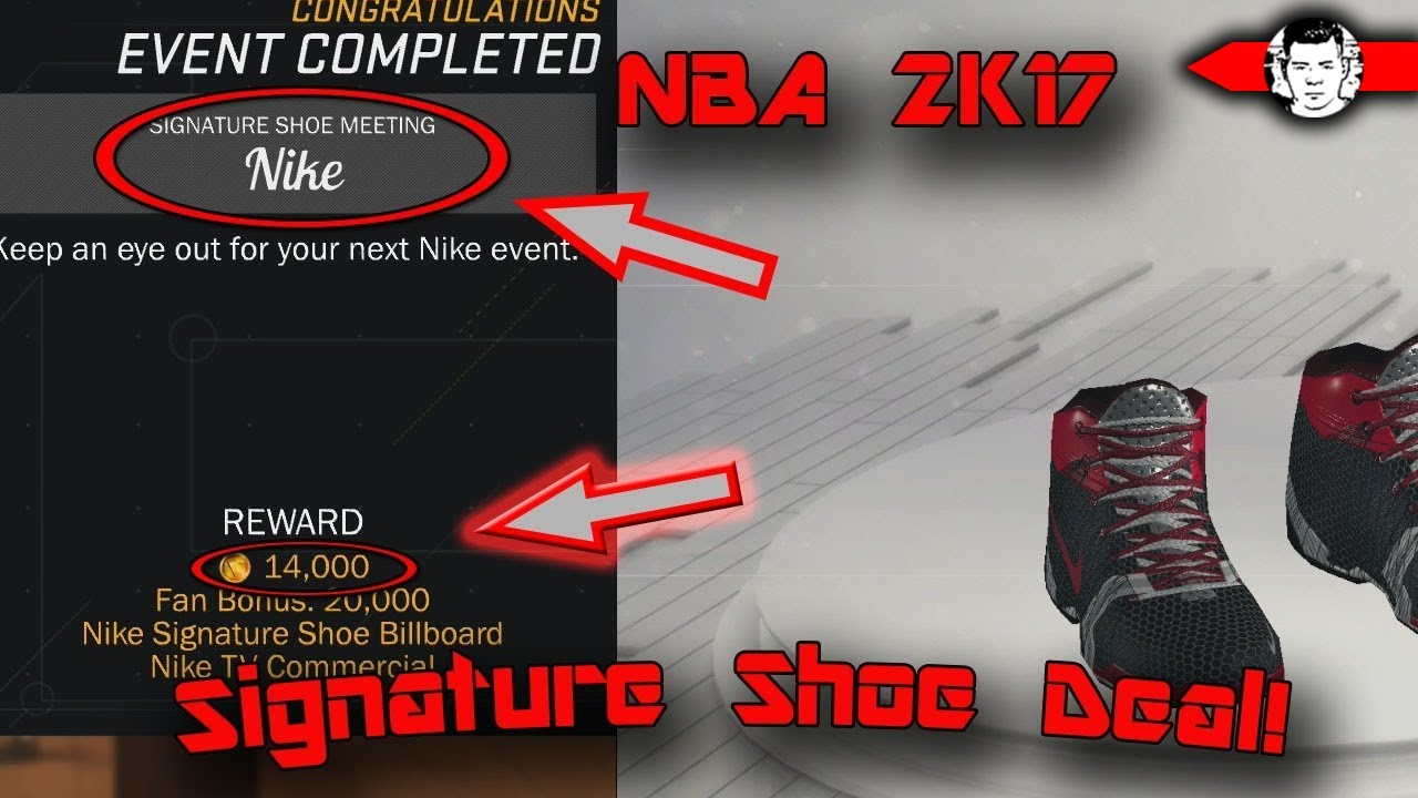 SIGNATURE SHOE DEAL NBA 2K17 MyCareer! 14,000 EASY VC, 22,000 VC in  Video!!! - YouTube
