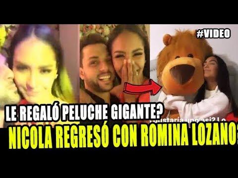 NICOLA PORCELLA REGRESÓ CON ROMINA LOZANO Y LE REGALÓ UN OSO GIGANTE?