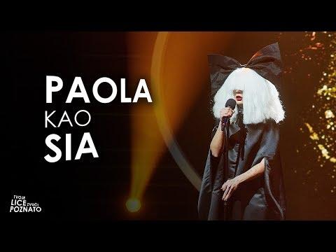 Paola Valić Bekić kao Sia - Chandelier