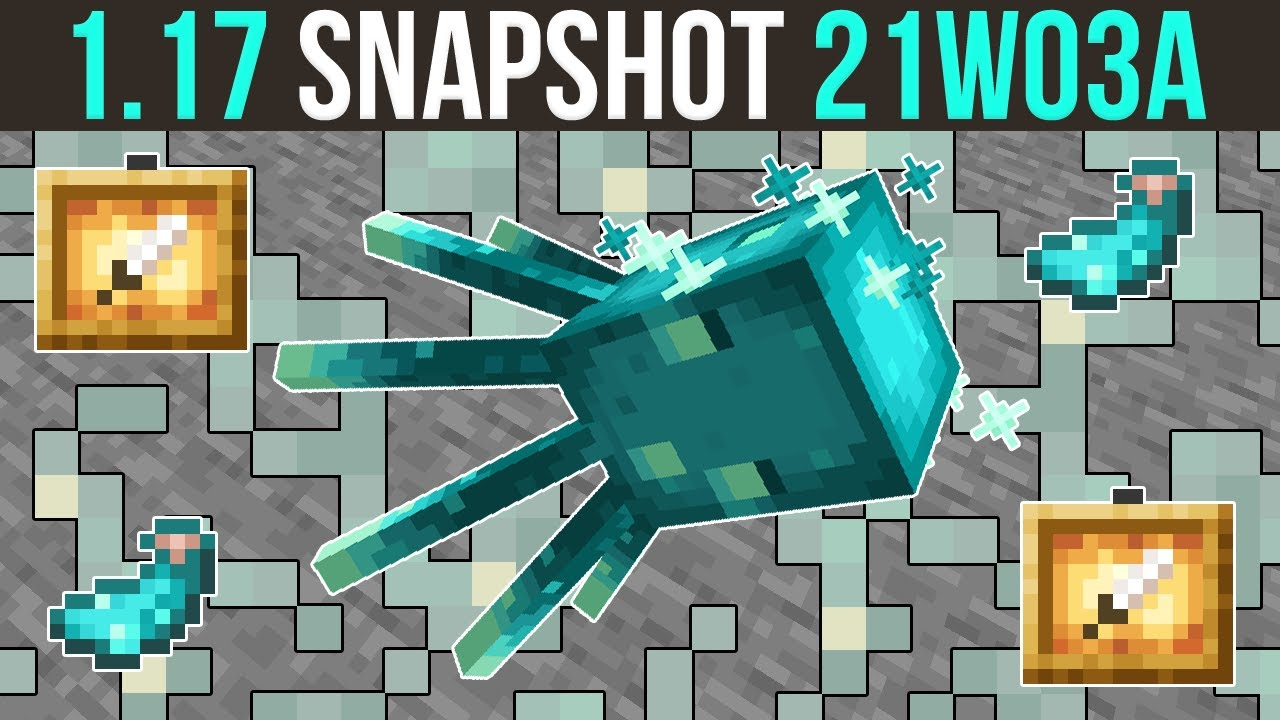 Minecraft 1.17 Snapshot 21w03a The Glow Lichen & Glow Squid... & Glowing Things! - download from YouTube for free