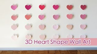Ombre 3d Heart Shape Wall Art | Sunny Diy