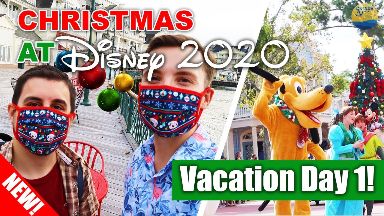 Christmas At Disney 2020! | Vacation Day 1 | Disney's Caribbean Beach Resort & Disney Springs!