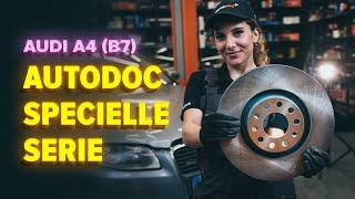 Montaje Juego de frenos de disco delanteras y traseras AUDI A4: vídeo manual