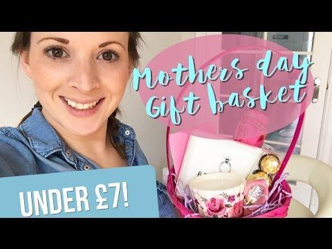 Poundland DIY Mothers Day Gift Basket for under £7!!
