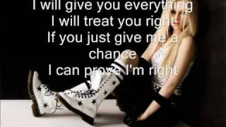Avril Lavigne - Contagious (instrumental+lyrics on screen)