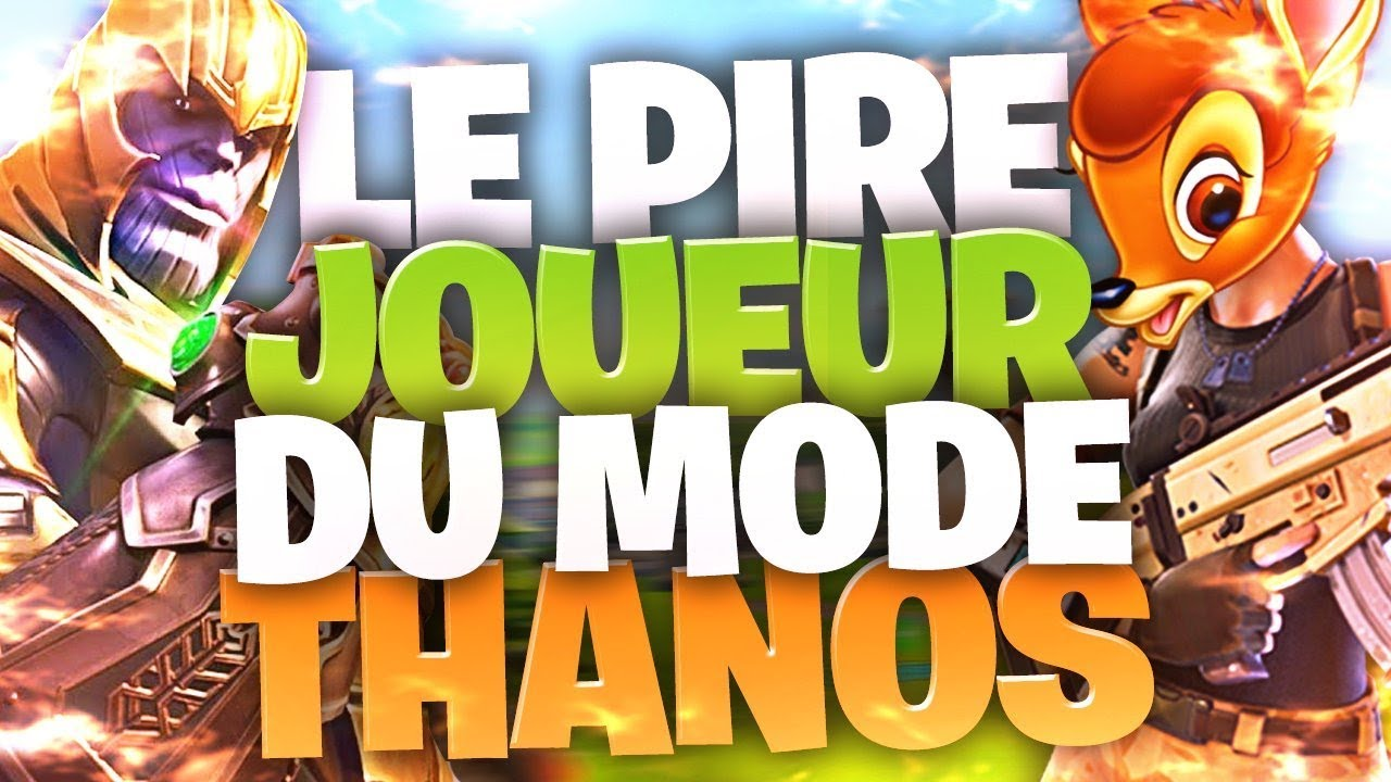 🔥LE PIRE JOUEUR DU MODE THANOS sur Fortnite !► Top1 (15 kills)
