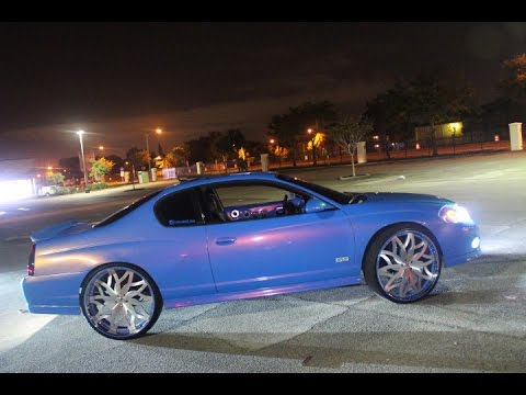 """Ss Monte Carlo >> Outrageous Monte Carlo SS On Brushed 26"""" Amani Forged Vito Wheels - YouTube"""