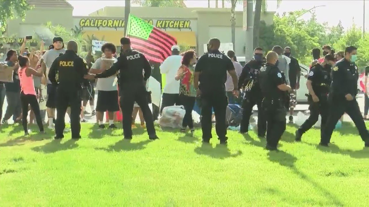 KSEE 24 News Central Valley protests largely peaceful, but incident in Visalia launches police inves