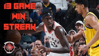 13 Game WIN STREAK - Serge Ibaka Continues BEST Season of CAREER  - Raptors vs Pacers Reaction