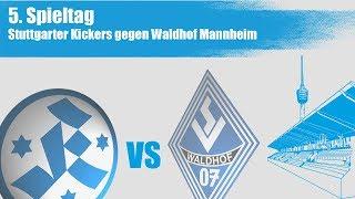5.Spieltag, Stuttgarter Kickers vs Waldhof Mannheim - Spielbericht+Interviews