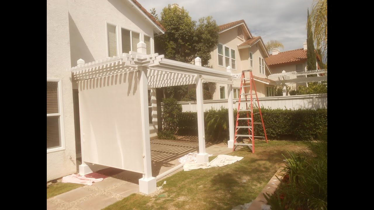 patio cover shade cloth installation san diego youtube