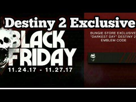 Destiny 2 Exclusive Black Friday Emblem