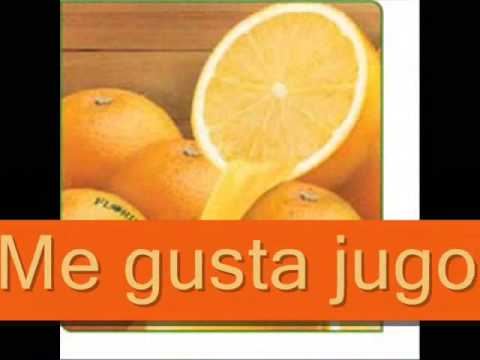 Jugo de naranja - Patti Lozano - Spanish food vocabulary song