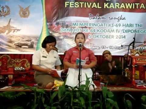 Sinden Cilik Anak SD dari Semarang