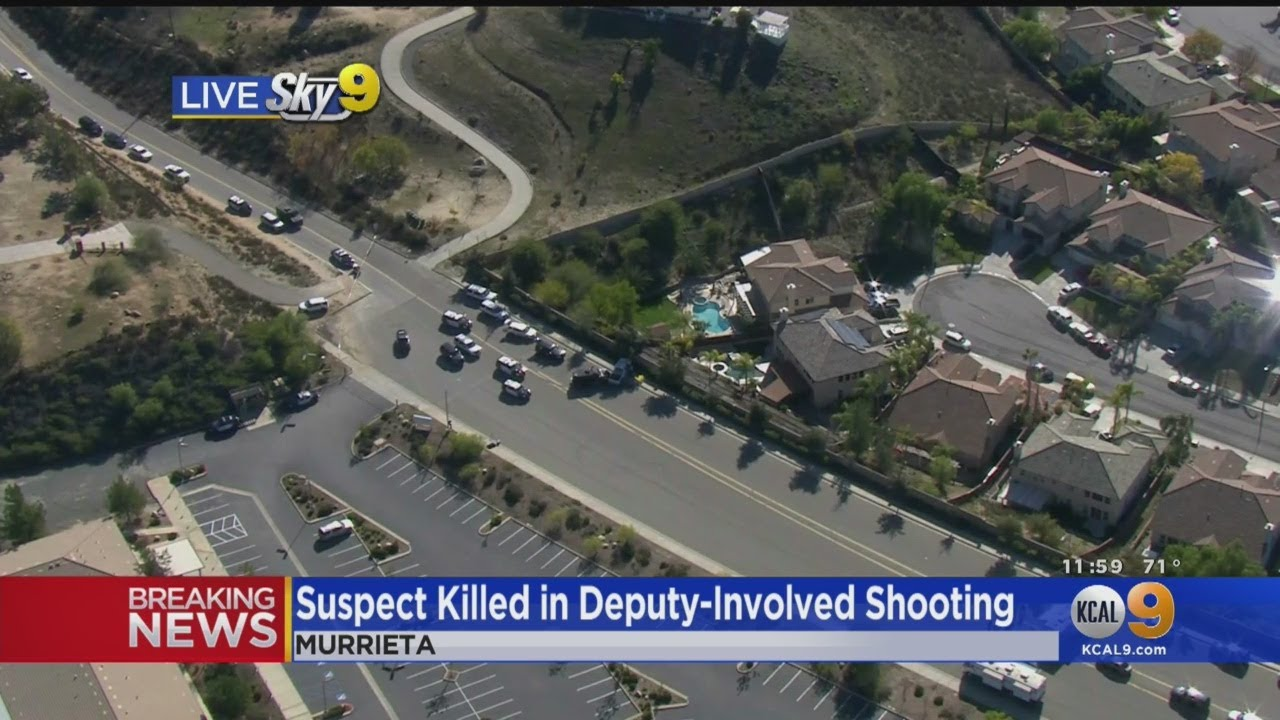 Suspect Killed In Deputy-Involved Shooting In Murrieta