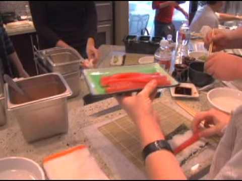 Jonas Otsuji & Rulon Gardner sushi class