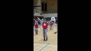 유치원 체육대회날 소고연주를 했어요!