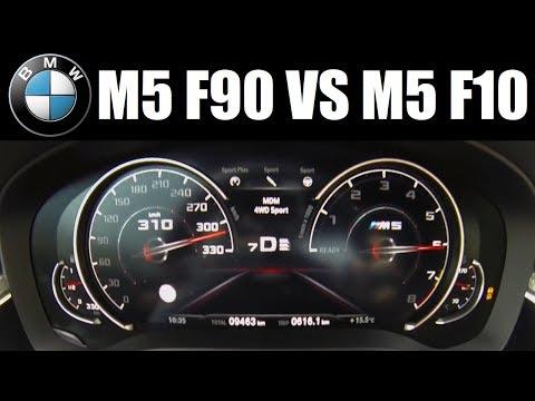 New BMW M5 (F90) Vs Old M5 (F10) 0-315 Km/h Top Speed
