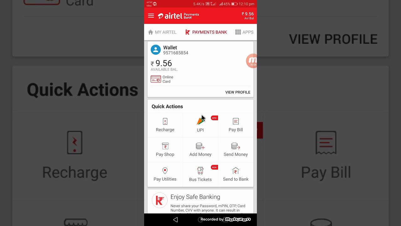 How to send money any bank account via airtel - YouTube