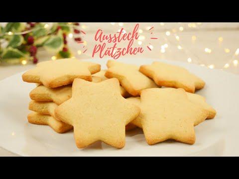 Klassische Ausstechplätzchen Grundrezept / zarte & feine Weihnachtsplätzchen backen Plätzchen Rezept