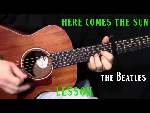 """how to play """"Here Comes the Sun"""" by The Beatles_George Harrison - acoustic guitar lesson"""