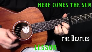"how to play ""Here Comes the Sun"" by The Beatles_George Harrison - acoustic guitar lesson"