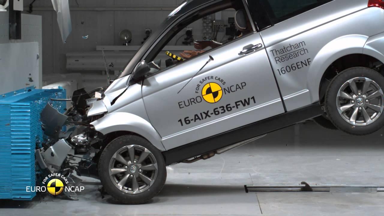 Euro NCAP Crash Test of Aixam Crossover GTR 2016