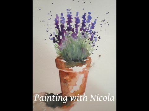 You Can Paint This Pot Of Lavender In Watercolours In