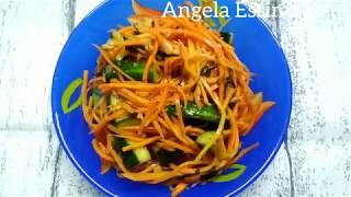 Огуречно- морковный салат! Легко и быстро!