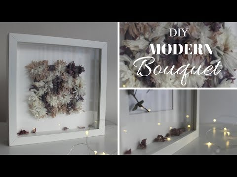 IKEA HACK | DIY Modern Wedding Flower Bouquet Keepsake Gift