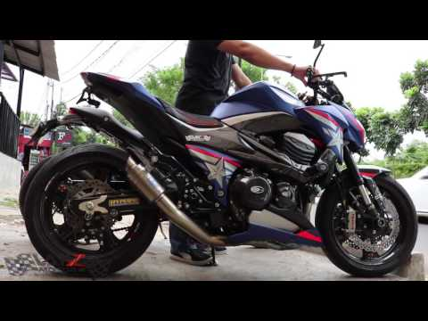 Z800 Racefit Growler Exhaust Full System Sound