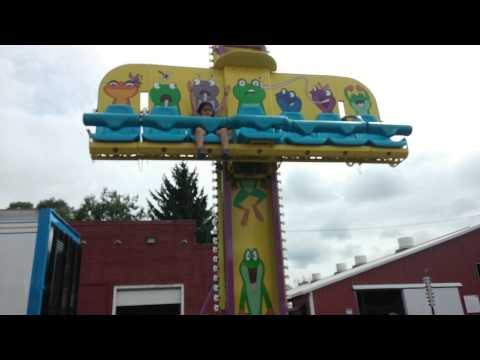 Alexis Goodwin on Mini Drop Tower at Fair