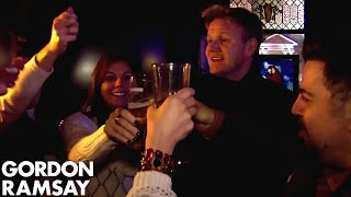 Gordon Takes Nervous Owner Ken Out to the Bar to Meet Women!  Hotel Hell