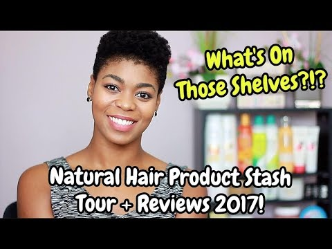 What's On Those Shelves? GIGANTIC Natural Hair Product Stash Tour + Reviews 2017 - NaturalMe4C