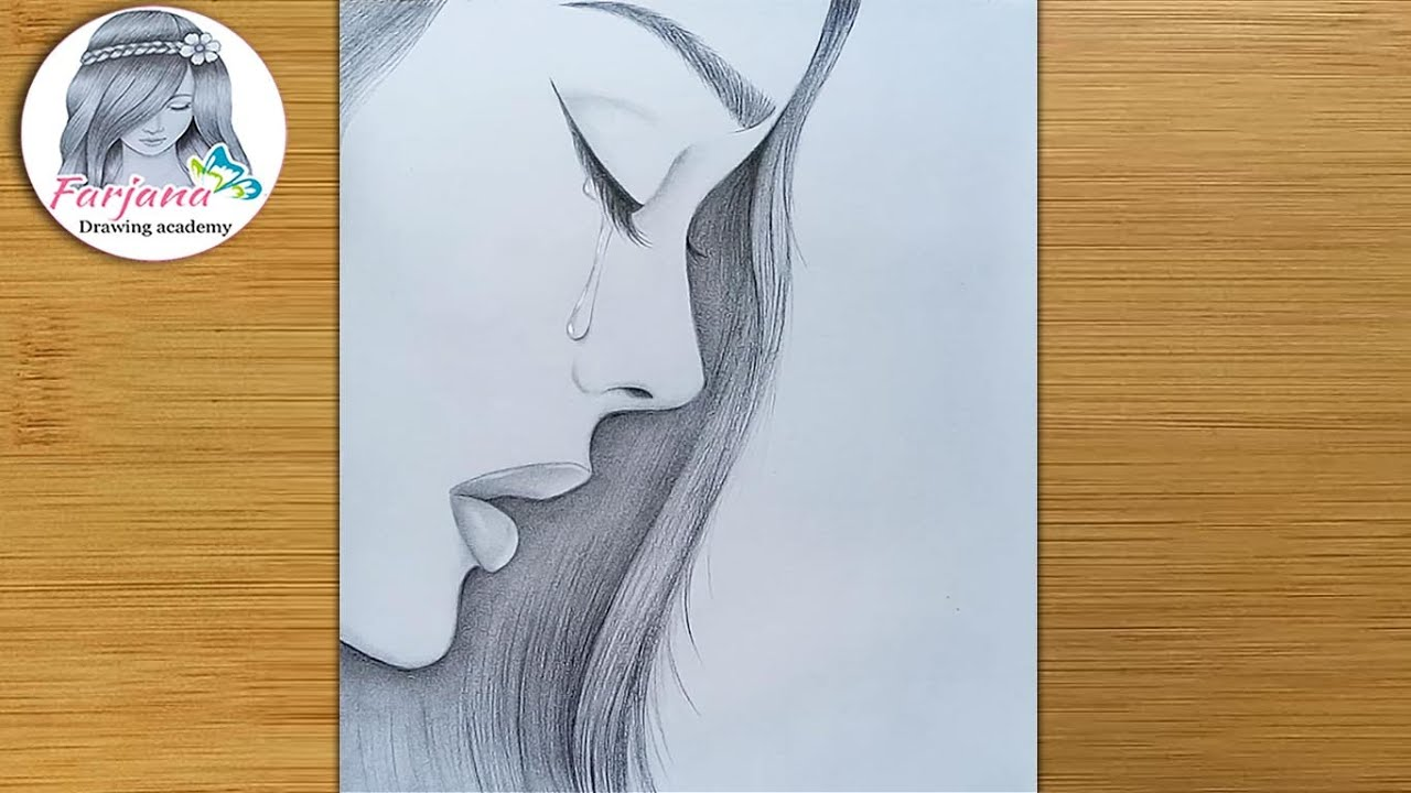 How to draw a sad girl - step by step     Pencil sketch Tutorial    Art video