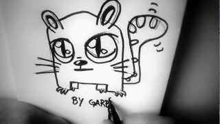How To Draw A Cartoon Cat By Garbi KW, Easy Drawing