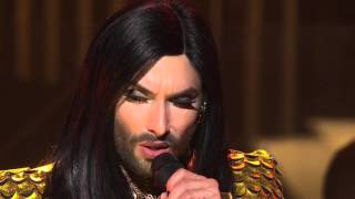Conchita performs Rise Like a Phoenix - Sydney Opera House