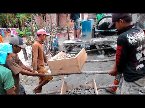 Pembangunan jalan cor beton kampung 6 desa tubohan oku th 2016