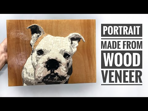 I made a wooden portrait VLOG 03