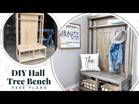 diy-hall-tree-bench