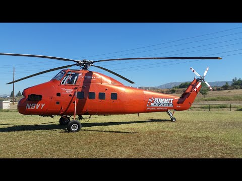 1962 Sikorsky S-58DT (From TV Series 'Riptide') Arriving at Hansen Dam