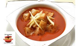 Kolay domates çorbası ve pratik kruton tarifi / Hazır satılanlardan daha lezzetli ve sağlıklı tarif
