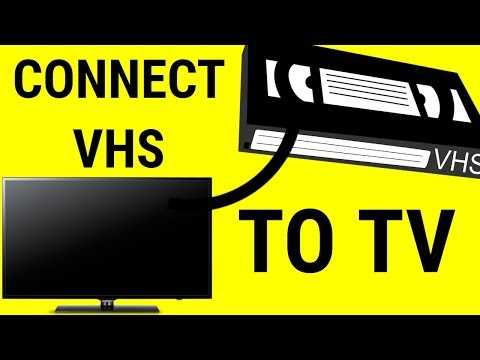 How do i hook up my vcr to my tv