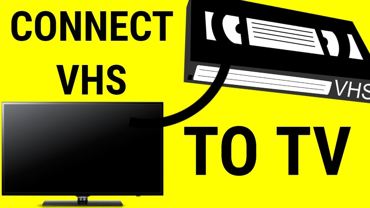 HOW TO CONNECT VHS TO SMART TV (easy) - YouTube